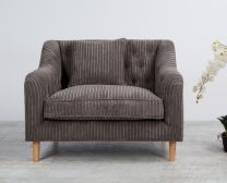 """Como"" Large Occasional Armchair in Forest Ribcord Fabric"