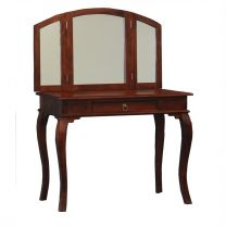 """Maison"" Mahogany Top French Provincial Style Solid Mahogany Timber Dressing Table Desk with 1 Drawer"