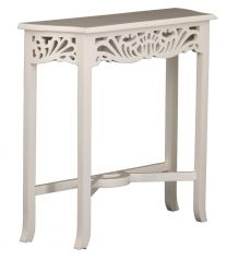 """""""Maison"""" Hand Carved Hall Console Table White Painted Finish 82cm W x 26cm D x 76cm H"""