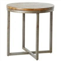 """Manhattan"" Round Solid Hardwood 50cm Dia Side Table"
