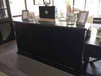 """Whitehaven"" Hardwood Black Timber 3 Door Buffet Unit"