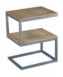 """Manhattan"" Solid Hardwood & Metal Side Table ""S"""