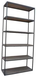 """Manhattan"" Solid Hardwood Natural Distress Large Bookshelf, 80x30x170cm"