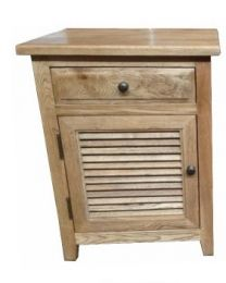 """""""Palm Beach"""" Timber Side Lamp Bedside Table Drawer Oak - Opens to Left"""